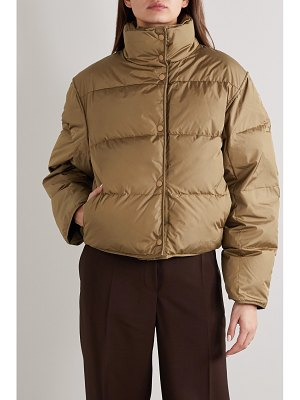Acne Studios net sustain cropped quilted shell down jacket