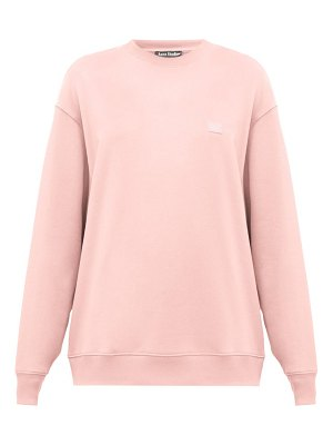Acne Studios forbra oversized face-patch cotton sweatshirt