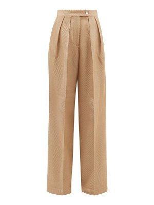 Acne Studios pristine pleated wool blend wide leg trousers