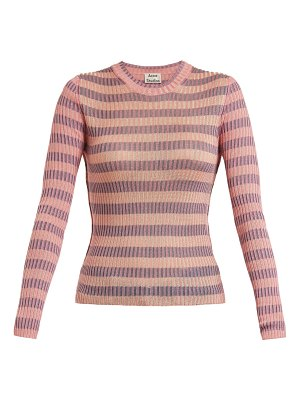Acne Studios Rutmar Striped Cotton Blend Sweater
