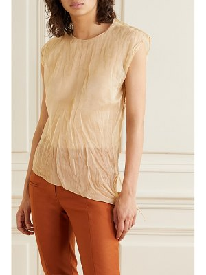 Acne Studios tie-detailed asymmetric crinkled-organza top