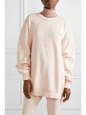 Acne Studios wora oversized embroidered cotton-terry sweatshirt