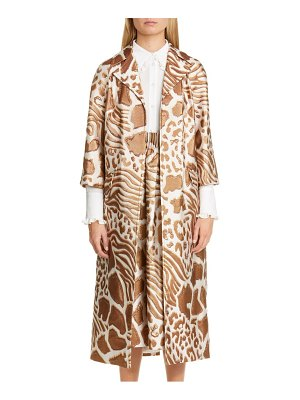 Adam Lippes animal pattern jacquard coat