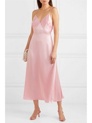 Adam Lippes gathered silk-satin maxi dress