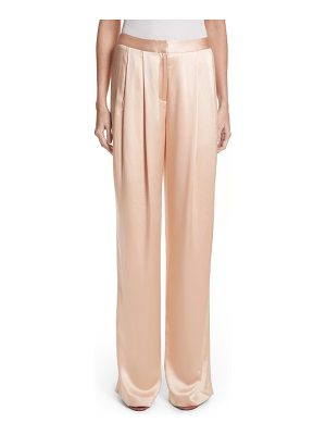 ADAM LIPPES Pleated Silk Pants