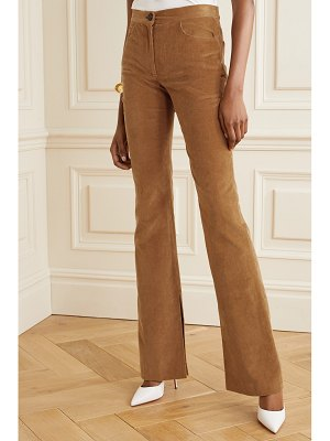 Adam Lippes stretch-cotton corduroy flared pants