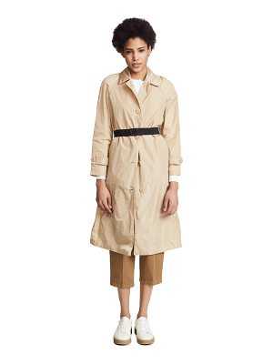 Add Down nylon pro trench coat