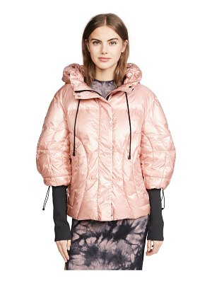 Add Down oversized hooded down jacket
