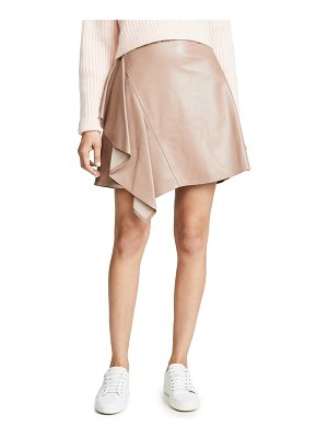 ADEAM ruffle moto skirt