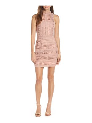 Adelyn Rae noelle mock neck lace dress