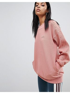 Adidas Sweatshirt In Raw Pink