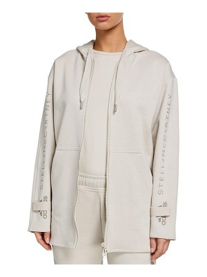 Adidas By Stella McCartney Oversized Embroidered Organic Cotton Hoodie