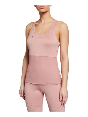 Adidas By Stella McCartney Scoop-Neck Racerback Logo Performance Tank