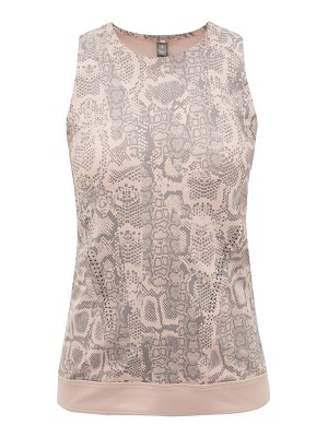 Adidas By Stella McCartney snake-print stretch-technical blend tank top
