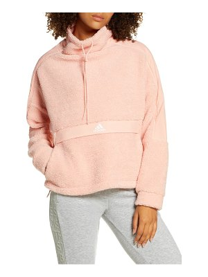 Adidas funnel neck fleece pullover