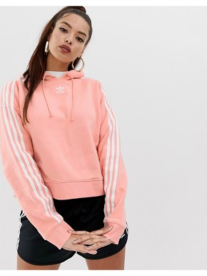Adidas Originals adicolor cropped hoodie in pink