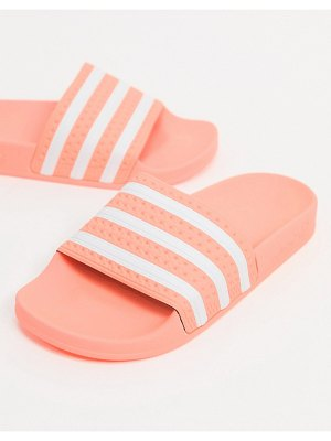 Adidas Originals adilette slides in pink