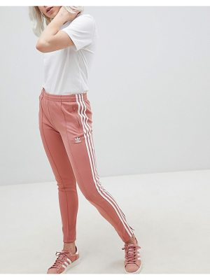 Adidas Originals Cigarette Pants In Pink