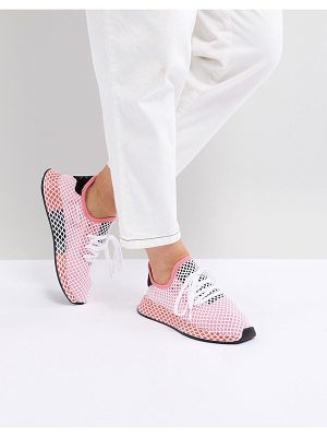 Adidas Originals Deerupt Runner Sneakers In Pink And Red