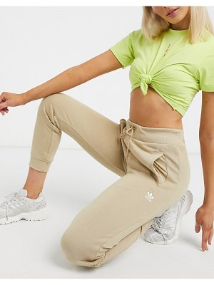 Adidas Originals essentials cuffed sweatpants in beige