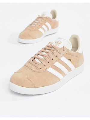 Adidas Originals gazelle sneakers in blush