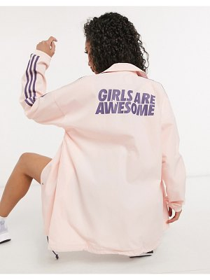 Adidas Originals girls are awesome jacket in pink