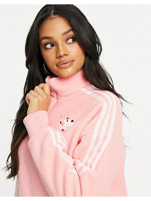 Adidas Originals half zip sweater in pink