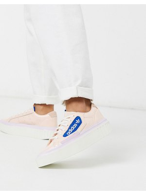 Adidas Originals hyper sleek platform sneakers in pink