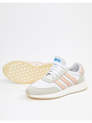 Adidas Originals i-5923 sneakers in white and pink