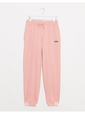 Adidas Originals ryv cuffed sweatpants in off pink