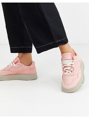Adidas Originals sc premiere sneakers in pink suede