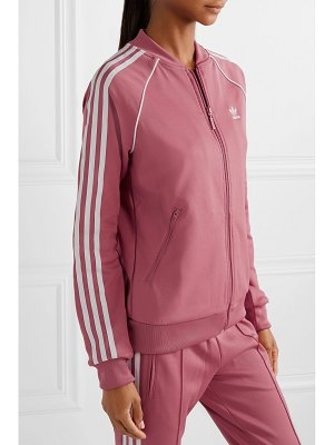 Adidas Originals sst striped jersey track jacket