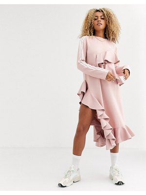 Adidas Originals x j koo trefoil ruffle dress in pink