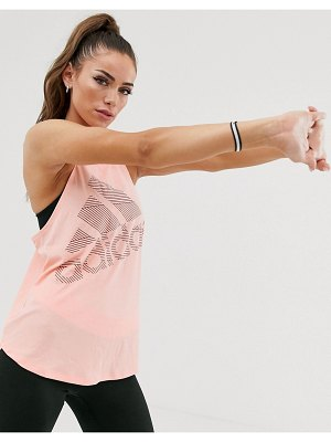 Adidas adidas training logo tank in pink