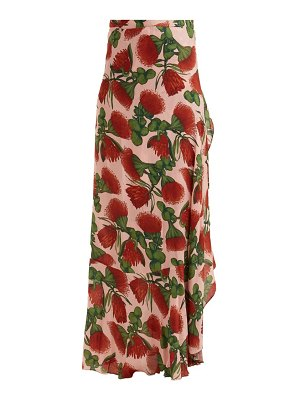 ADRIANA DEGREAS fiore pareo floral printed wrap skirt
