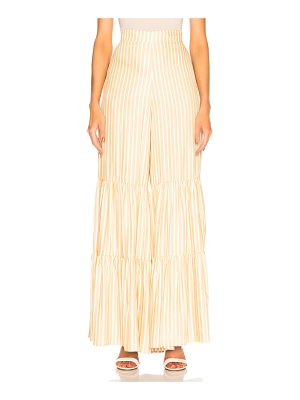 ADRIANA DEGREAS Striped Wide Leg Pant