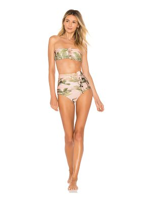ADRIANA DEGREAS Toucan Strapless Bikini Set