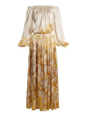 ADRIANA IGLESIAS Creek floral-print stretch-silk gown