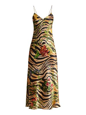 ADRIANA IGLESIAS Jadi Printed Silk Dress