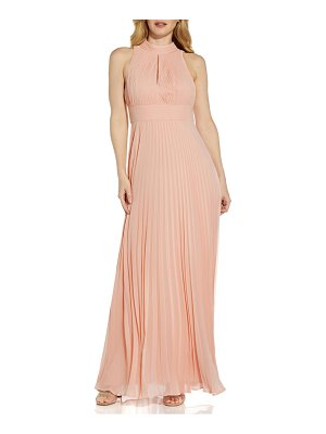 Adrianna Papell pleated chiffon a-line gown