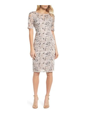 Adrianna Papell suzette embroidered sheath dress