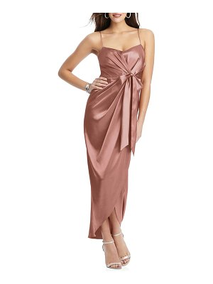 After Six bow front stretch satin gown