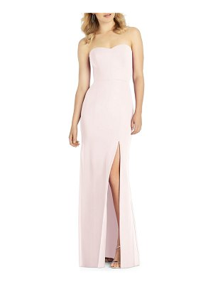 After Six strapless chiffon trumpet gown