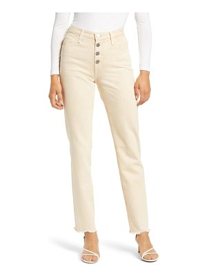 AG Adriano Goldschmied the isabelle  high waist raw hem straight leg jeans
