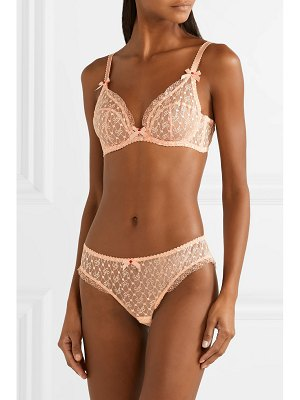 Agent Provocateur dorotia lace-trimmed embroidered stretch-tulle underwired bra