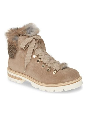 AGL genuine rabbit fur hiker boot