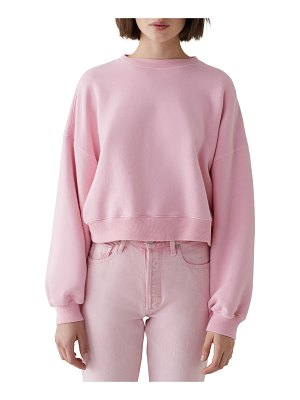 AGOLDE Balloon-Sleeve Cropped Pullover