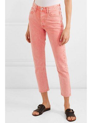 AGOLDE jamie cropped high-rise slim-leg jeans