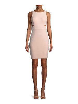 AIDAN BY AIDAN MATTOX Scuba Crepe Cutout Cocktail Dress
