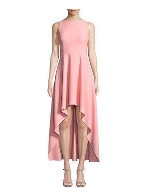 Aidan by Aidan Mattox Scuba Crepe Strappy High-Low Dress
